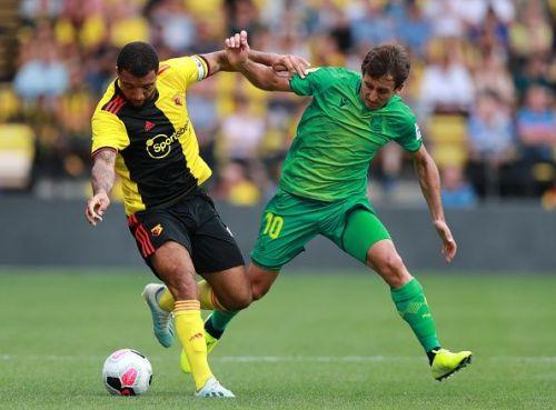 Mikel Oyarzabal (R) in Watford v Real Sociedad - Pre-Season Friendly