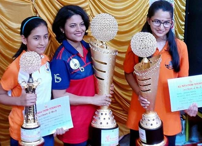 The runner-up crown at the National Women 2019. Source: The Hindu