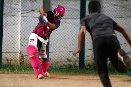 Maan K Bafna of iDream Karaikudi Kaalai in practice session ahead of their clash against Siechem Madurai Panthers in Sankar Cement TNPL 2019 at ICL- Sankar Nagar Ground, Tirunelveli