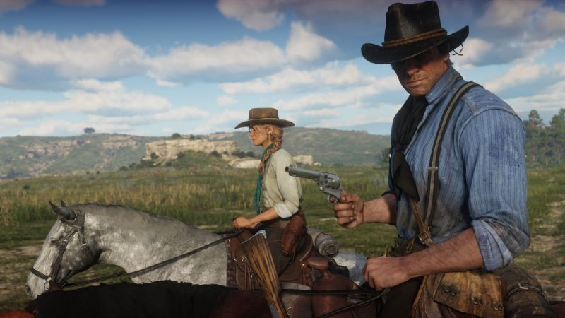 Arthur Morgan and Sadie Adler in Red Dead Redemption 2