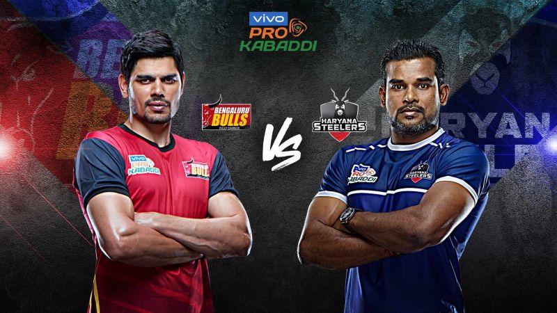 Pro Kabaddi Live Score Bengaluru Bulls Vs Haryana Steelers
