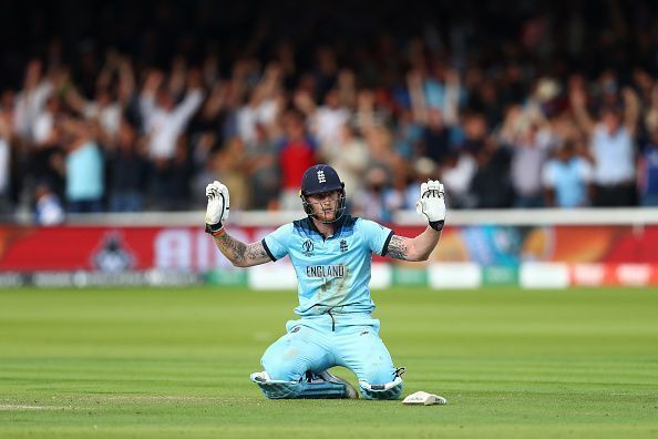 Stokes was named Man of the Match in the World Cup Final