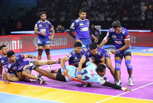 The Haryana Steelers put up a collective effort to down the Bengal Warriors