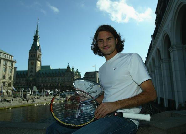 Federer celebrates his 3rd Masters 1000 title at 2004 Hamburg