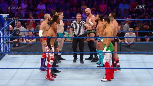 Ten of the best Cruiserweights in the WWE battled in the Captain's Challenge