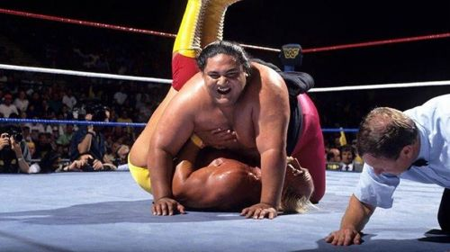 The Super Heavyweight used Hogan's leg drop to win the title and sent the Hulkster rout of the WWF for nearly a decade.