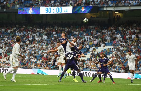 A late tussle for possession deep into second-half stoppage-time, as Real dropped two points at home