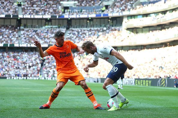 Harry Kane in action against Newcastle.