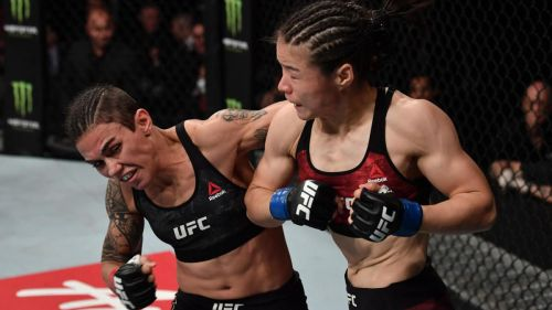 It took Zhang less than a minute to deal with Jessica Andrade