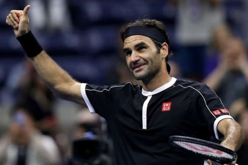 Roger Federer after his first round victory at the US Open 2019
