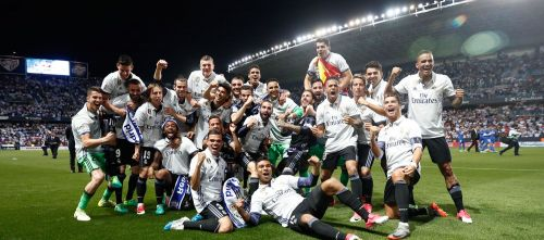 Real Madrid celebrate their record extending 33rd LaLiga title in 2016-17