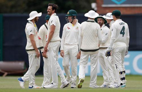 Australia Won easily against Derby.