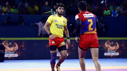 Rohit Gulia had scored his first Super 10 in PKL history when the Fortune Giants played their last match