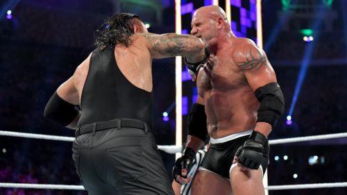 Goldberg injured himself against The Undertaker
