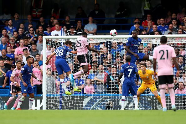 Leicester equalized from a corner.