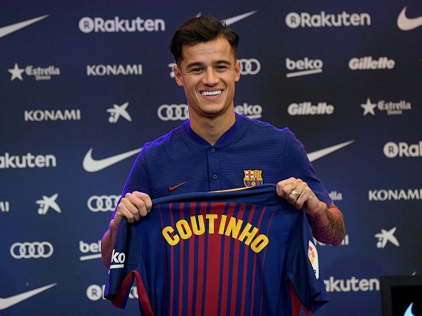 Coutinho was signed for a club-record fee