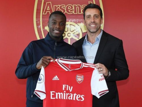 Arsenal signed Pepe in the summer from Lille
