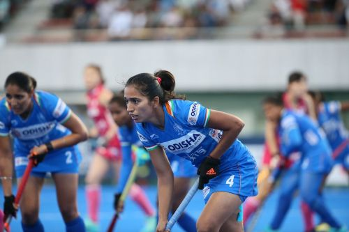 Monika in action for India