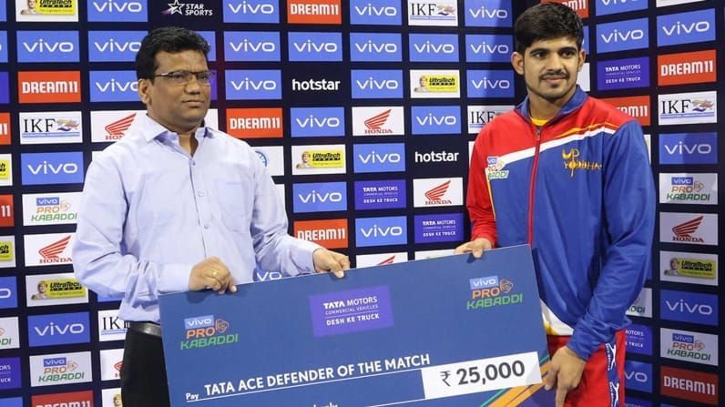 Sumit picked up the maiden High 5 of his PKL career.