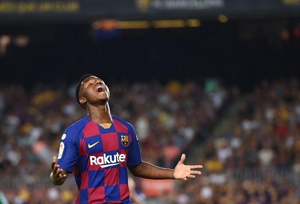 Ansu Fati made his debut for Barcelona last night
