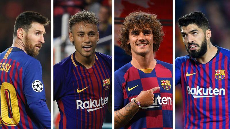 Messi-Neymar-Griezmann-Suarez