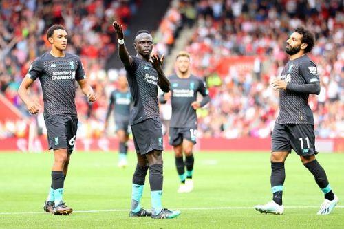 Sadio Mane in action at Southampton