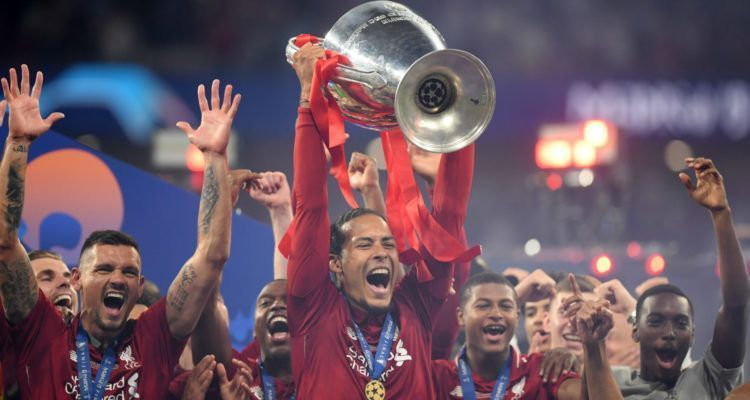 Van Dijk won the Champions League with Liverpool last season