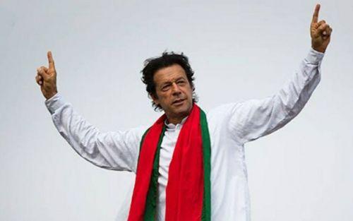 Pakistan cricketer Imran Khan as Pakistan's Prime Minister