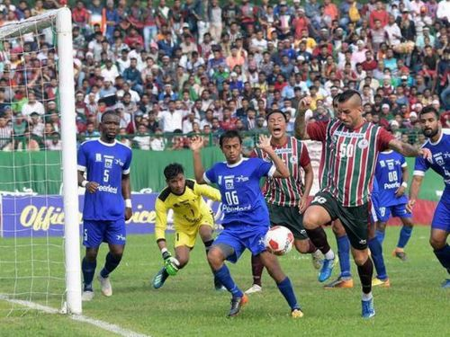 Fran Gonzalez (right) scored the winning goal for Mohun Bagan