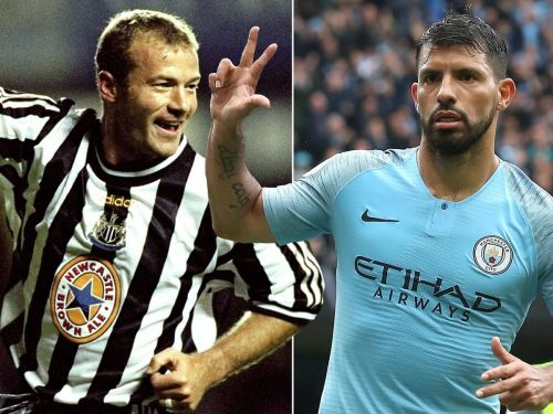 Aguero is one treble away from toppling Shearer's record for most EPL hat-tricks