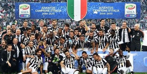Juventus lifted their 31st Serie A title in 2014-15