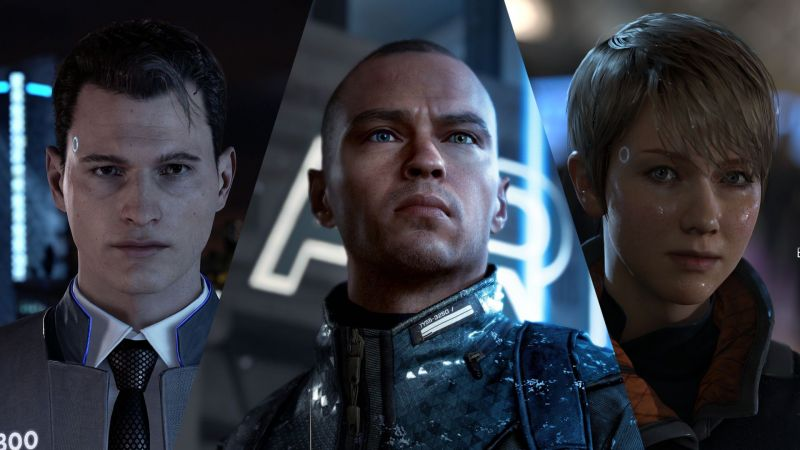 Connor, Markus, and Kara in Detroit Become Human
