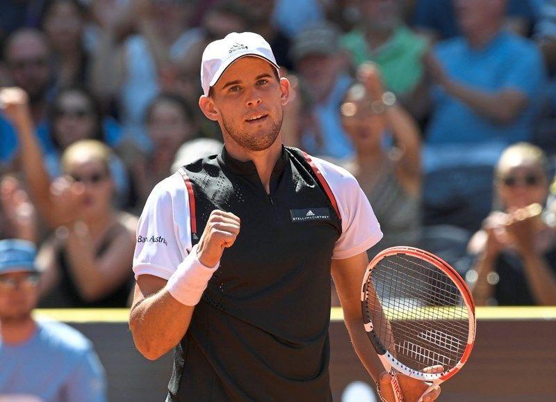 Dominic Thiem in full flow at the ATP 250-Generali Open in Kitzbühel, Austria