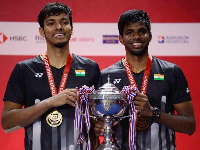 फाइनल मुकाबला जीतने के बाद भारतीय जोड़ी