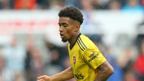 Reiss Nelson in action for Arsenal