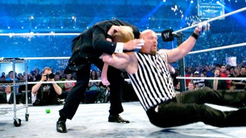 Donald Trump is the first president ever to receive a Stone Cold Stunner