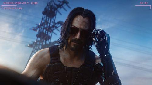 Keanu Reeves' character in Cyberpunk 2077
