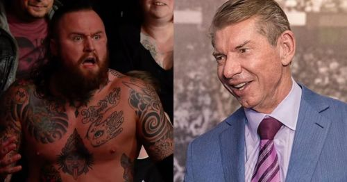 Aleister Black and Vince McMahon.