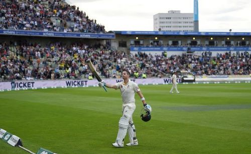 Steve Smith walks off the field after having saved his country from a total collapse.
