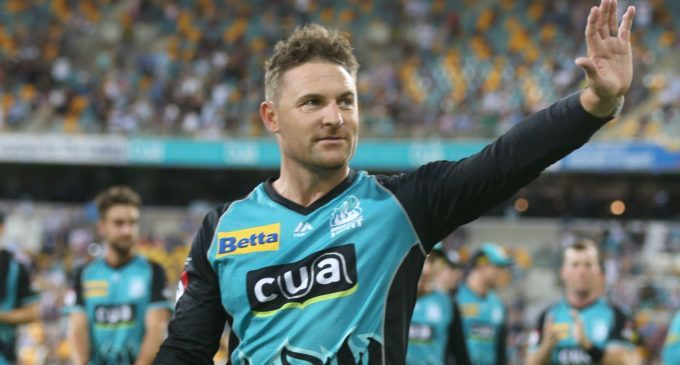 Bredon McCullum bidding goodbye during his last season of BBL