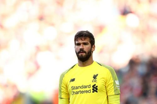 Alisson injured his calf during the Reds' opening day fixture against Norwich