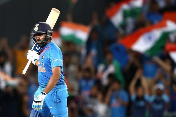 Rohit Sharma holds the record for the joint-fastest century in T20Is