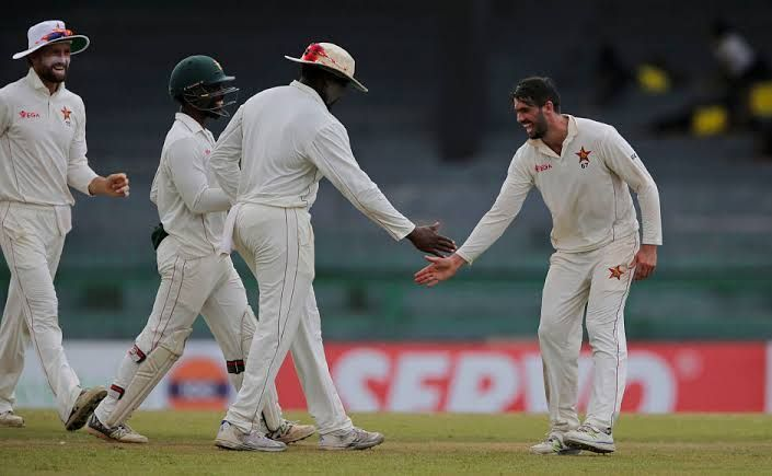 Sri Lanka chased a target of 387 against Zimbabwe in 2017 in Colombo