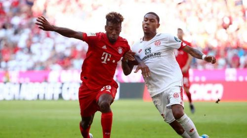 Coman was among the players regularly pressing from the front, harrying Mainz into mistakes aplenty