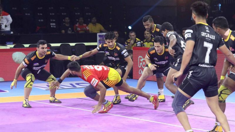 The Telugu Titans' defenders put up a positive show against Gujarat