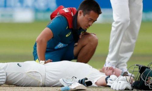 दूसरे टेस्ट में गर्दन पर गेंद लगने के बाद स्टीव स्मिथ घायल हो गए थे