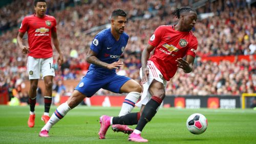 Manchester United in action against Chelsea