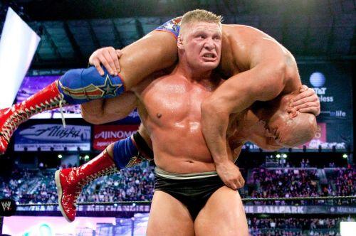 Brock Lesnar: Won his second WWE Championship at WrestleMania XIX