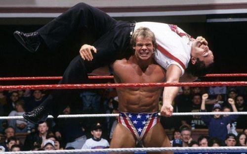Lex Luger uses the Torture Rack
