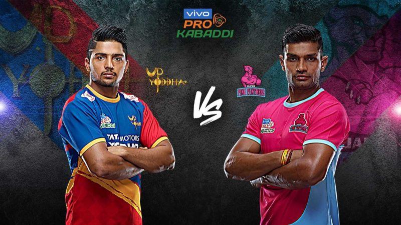 13727486 Pro Kabaddi Live Score: U.P. Yoddha v Jaipur Pink Panthers | U.P. ...